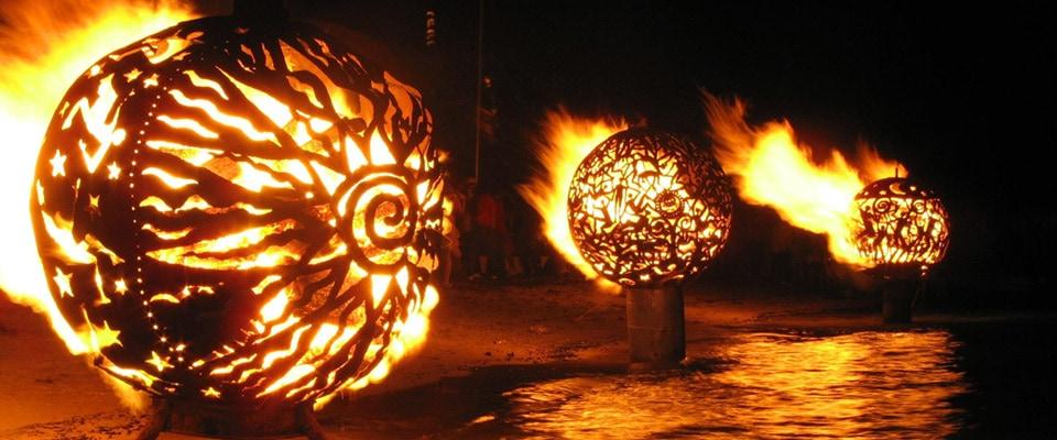 Les fireballs d'Aragorn : sculptures de feu