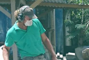 Benjamin FEUILLOLEY, tailleur de pierre en Guadeloupe