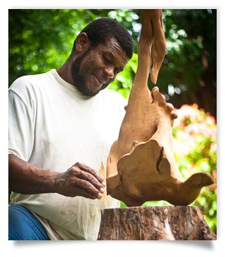 Reggie Medford maitrise l'acajou de la Barbade